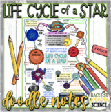 Life Cycle of a Star Doodle Notes & Quiz