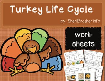 Life Cycle of a Turkey | PreK-K Worksheets | English