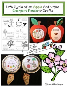 Life Cycle of an Apple Activities: Emergent Reader & Crafts
