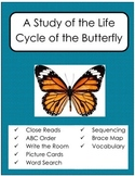 Life Cycle of the Butterfly - Close Reads and More