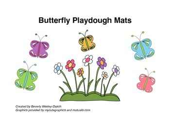 Life Cycle of the Butterfly Playdough Mats