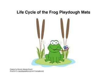 Life Cycle of the Frog Playdough Mats