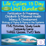 Life Cycles 15 DAY NO PREP Unit Bundle: PowerPoints, Activities, Assessments