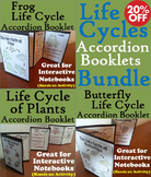 Life Cycles Interactive Notebook Foldables: Frogs, Plants, Butterflies
