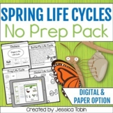 Life Cycles for Spring - Spring Science Digital No Prep Pack With Google Slides