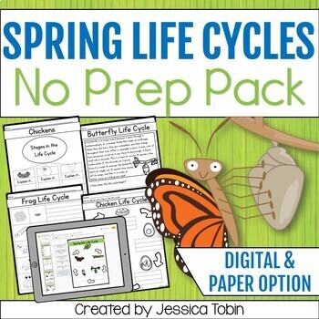 Life Cycles for Spring Animals; Science Spring Activities