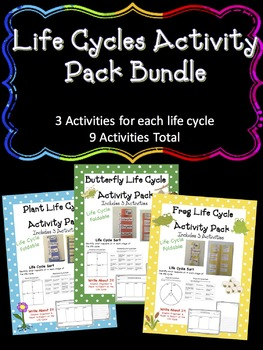 Life Cycles Activity Set Bundle