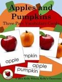 Apples & Pumpkins Three Part Vocabulary Cards