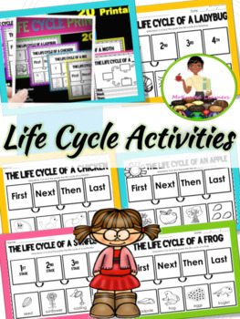 Life Cycles (Basic) Cut and Paste Worksheets