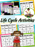 Life Cycles Cut and Paste Worksheets and Graphic Organizers