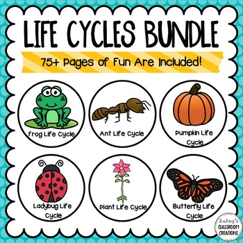 Life Cycles Bundle- Frog, Butterfly, Plant and Pumpkin Life Cycle Activities