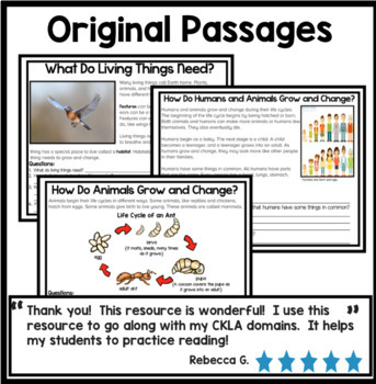 Life Cycles Bundle Reading Comprehension Passages {Digital and Print and Go}