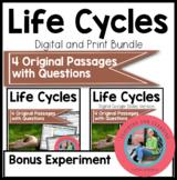 Life Cycles Bundle Reading Comprehension Passages {Digital