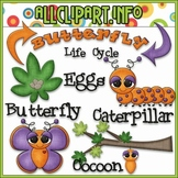 TPT EXCLUSIVE BUNDLE - Life Cycles Clip Art - Butterfly