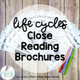 Life Cycles Close Reading Passages with Questions