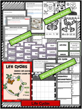Life Cycles: Complete Lesson Set Bundle (TEKS & NGSS) 4th Grade