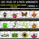 Life Cycles Cut and Paste Worksheets | Bundle