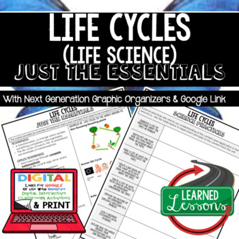 Life Cycles Just the Essentials Content Outlines Next Generation Science, Google