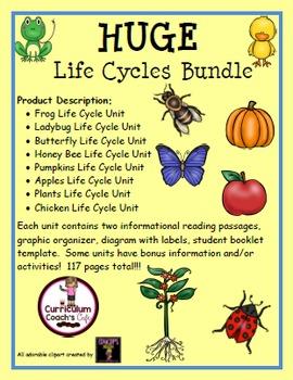 Life Cycles Mega Bundle:  8 Different Life Cycle Units!!!