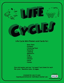 Life Cycles Mini Posters and Cards