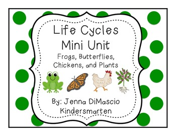 Life Cycles Mini Unit {Frogs, Chickens, Butterflies, Plants}