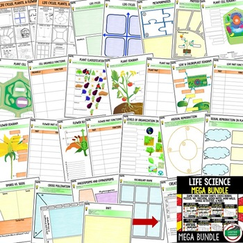 Life Cycles, Plants, Flowers Activities Choice Board, Digital Graphic Organizers