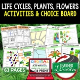 Life Cycles, Plants, Flowers Activities Choice Board, Digi