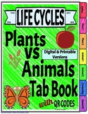 Life Cycles: Plants vs. Animals Digital and Printable w/li