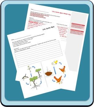 Life Cycles Quiz LS1-1