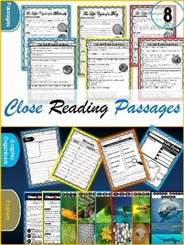 Life Cycles Reading Comprehension Passages | Butterfly Life Cycle | Close Reads