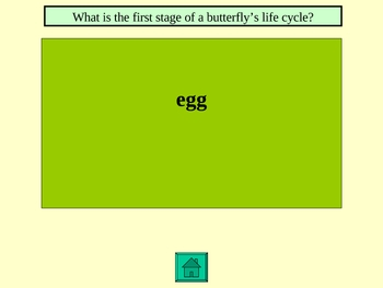Life Cycles Trivia Game geared for 1-3 grade