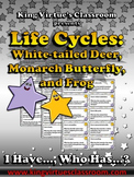 Life Cycles: White-tailed Deer Monarch Butterfly Frog I Have... Who Has...? Game