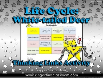 Life Cycles: White-tailed Deer Thinking Links Activity #1 - King Virtue