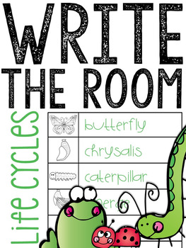 Life Cycles Write the Room (Butterfly, Frog, & Ladybug)