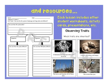 Life Cycles and Traits of Organisms- A NGSS 3rd Grade Unit (3.LS.1, 3.LS.3)