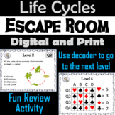 Life Cycles of Plants and Animals Activity: Science Escape Room