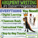 Life Doesn't Frighten Me  Maya Angelou  Text Dependent Analysis Argument Writing