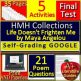 Life Doesn't Frighten Me by Maya Angelou 6th Grade HMH Collections 1 Activities