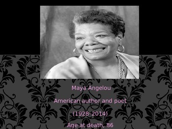 """Life Doesn't Frighten Me at All"" Maya Angelou"