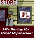Life During the Great Depression- Video, Discussion, Worksheets!