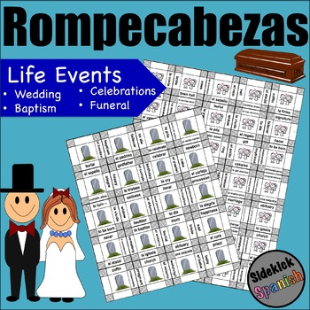 Life Events Vocabulary Puzzle in Spanish (Así Se Dice Chapter 3)