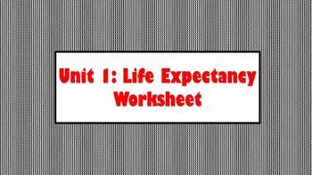Life Expectancy Worksheet