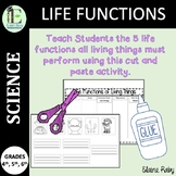 Life Functions of Living Things Cut and Glue Activity