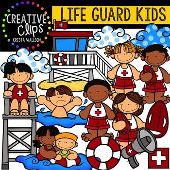Life Guard Kids {Creative Clips Digital Clipart}