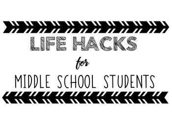 Life Hack Posters for Secondary Students