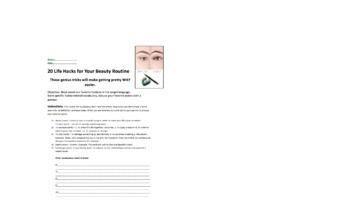Life Hacks ESL Advanced Reading Beauty Tips
