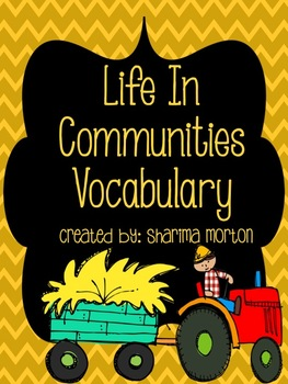 Life In Communities Vocabulary
