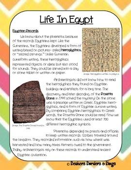 Life In Egypt Socratic Seminar Lesson Plan