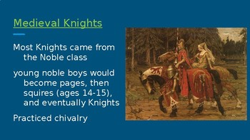 Life In Medieval Europe- Knights and Manors Power Point