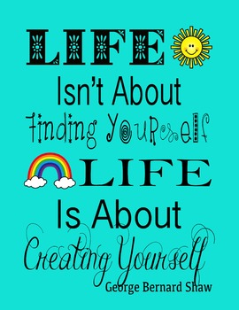 Life Isn't About Finding Yourself.  Life Is About Creating Yourself Quote
